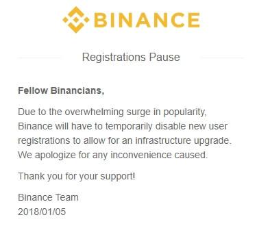 BINANCE(バイナンス)が登録出来ない